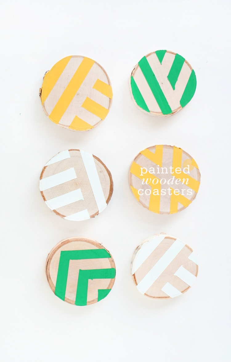 Painted Wooden Coasters DIY Painted Wooden Coasters