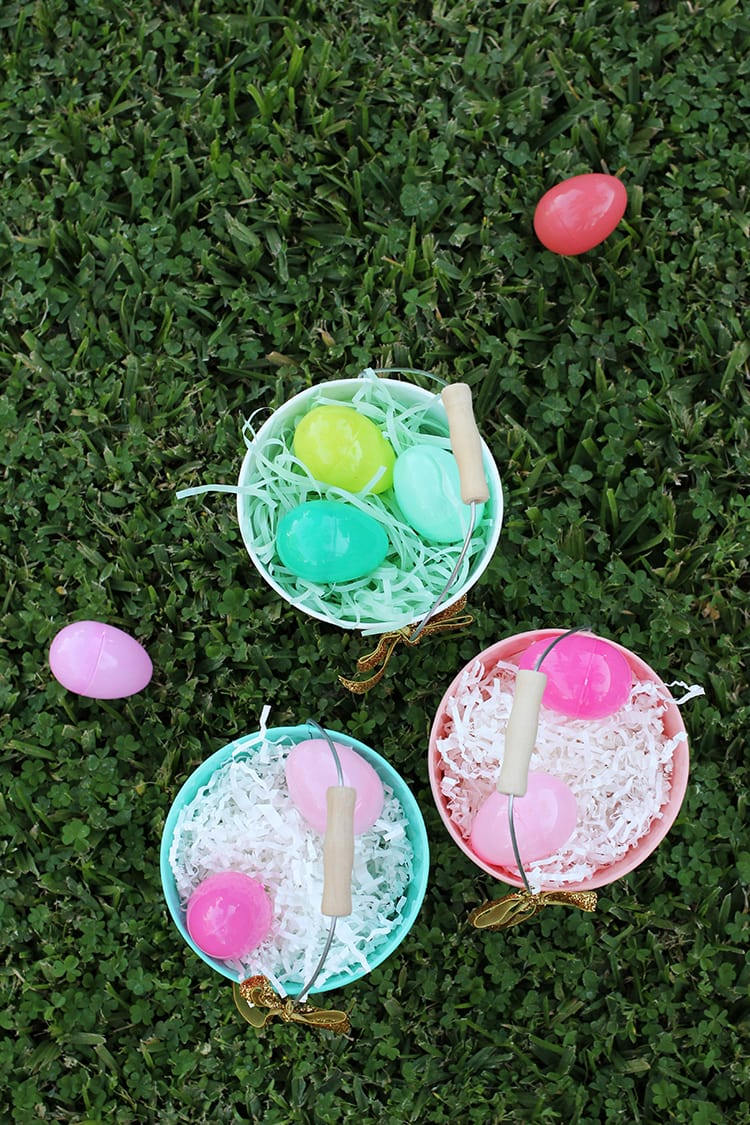 DIY Glittered Easter Pails