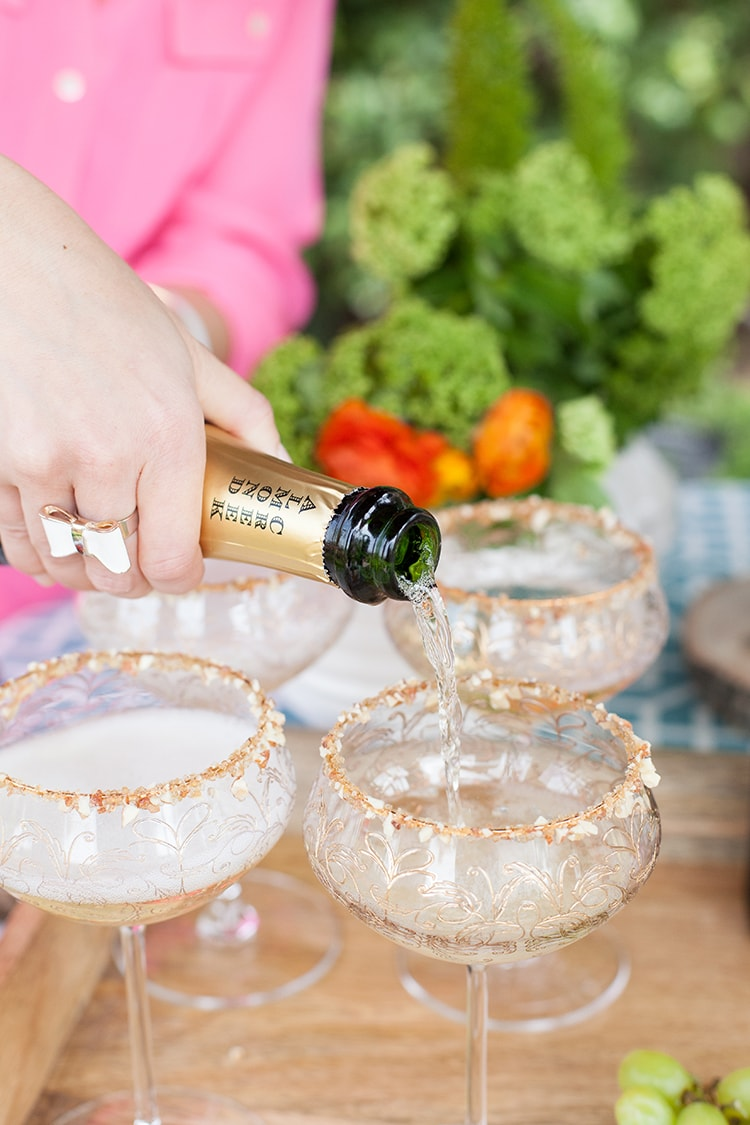 Honey Almond Champagne Cocktail