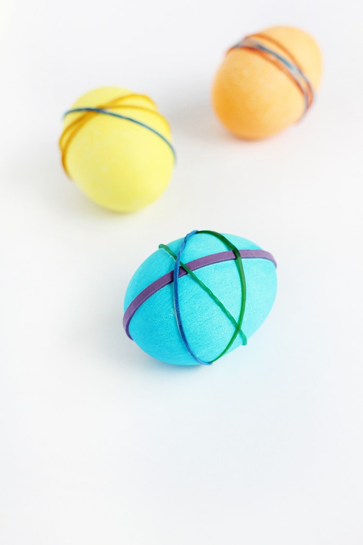 Rubber Band Dyed Easter Eggs 4 Rubber Band Easter Eggs
