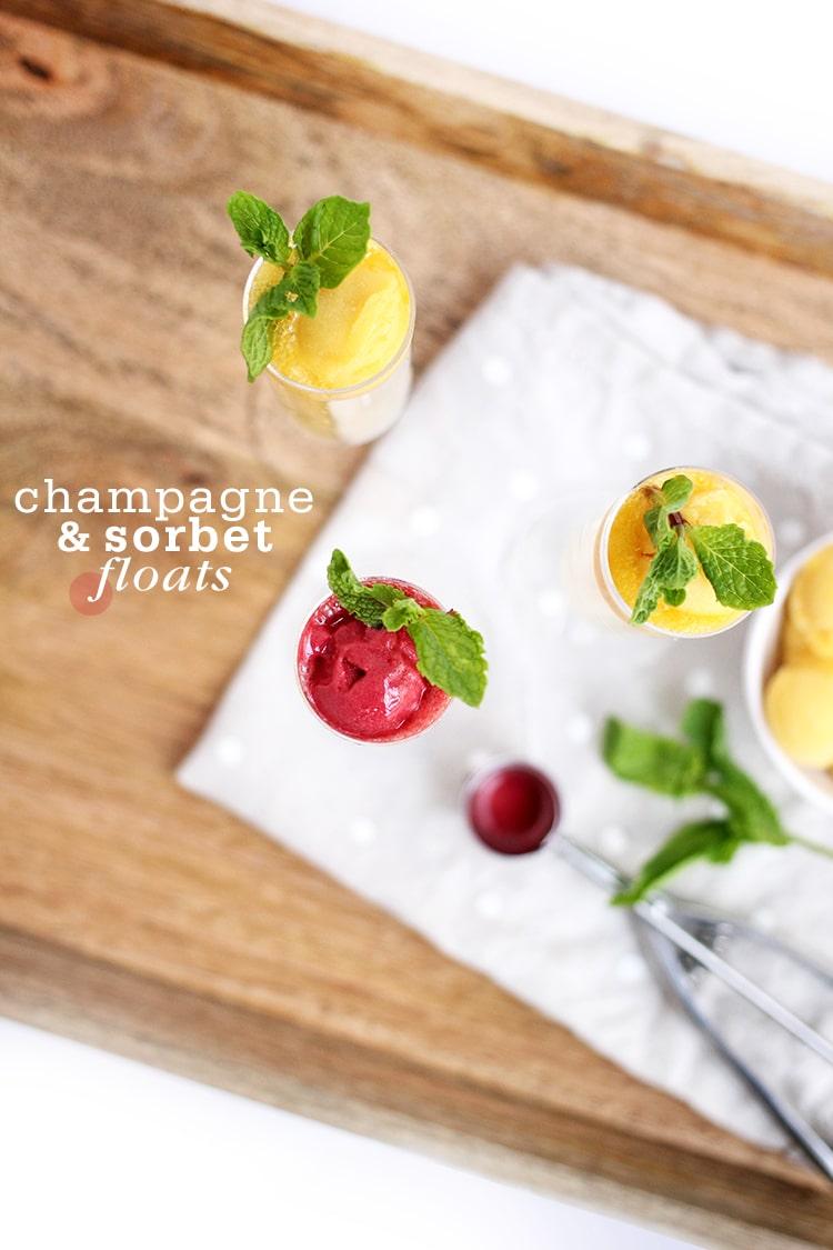 Champagne-Sorbet-Cocktails