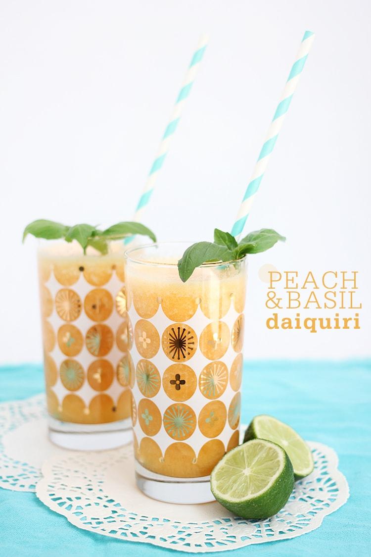Peach Basil Daiquiri