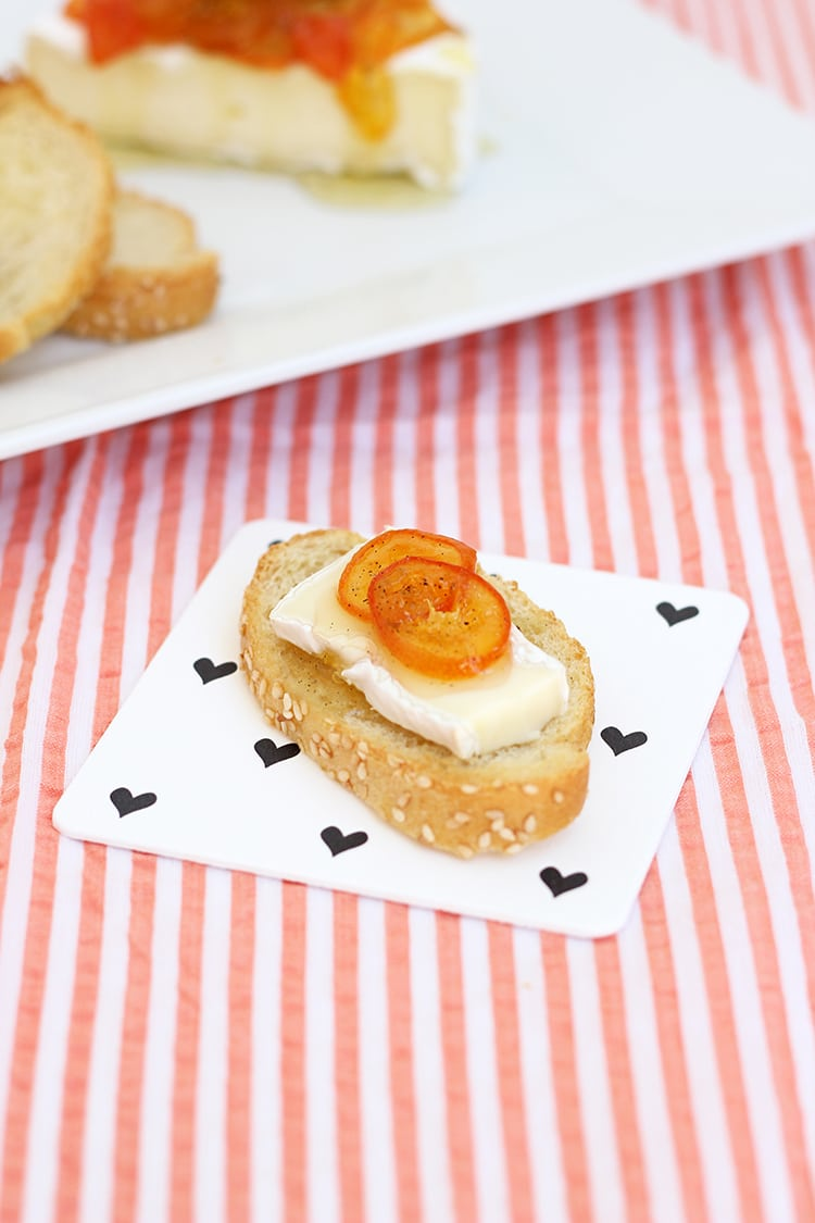 Brie with Vanilla Kumquat Marmalade