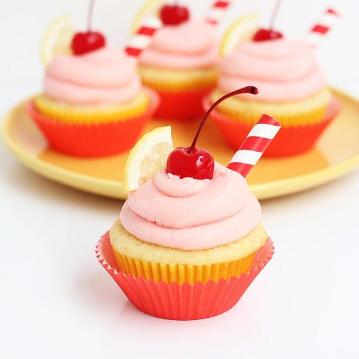 Cherry Lemonade Cupcakesa