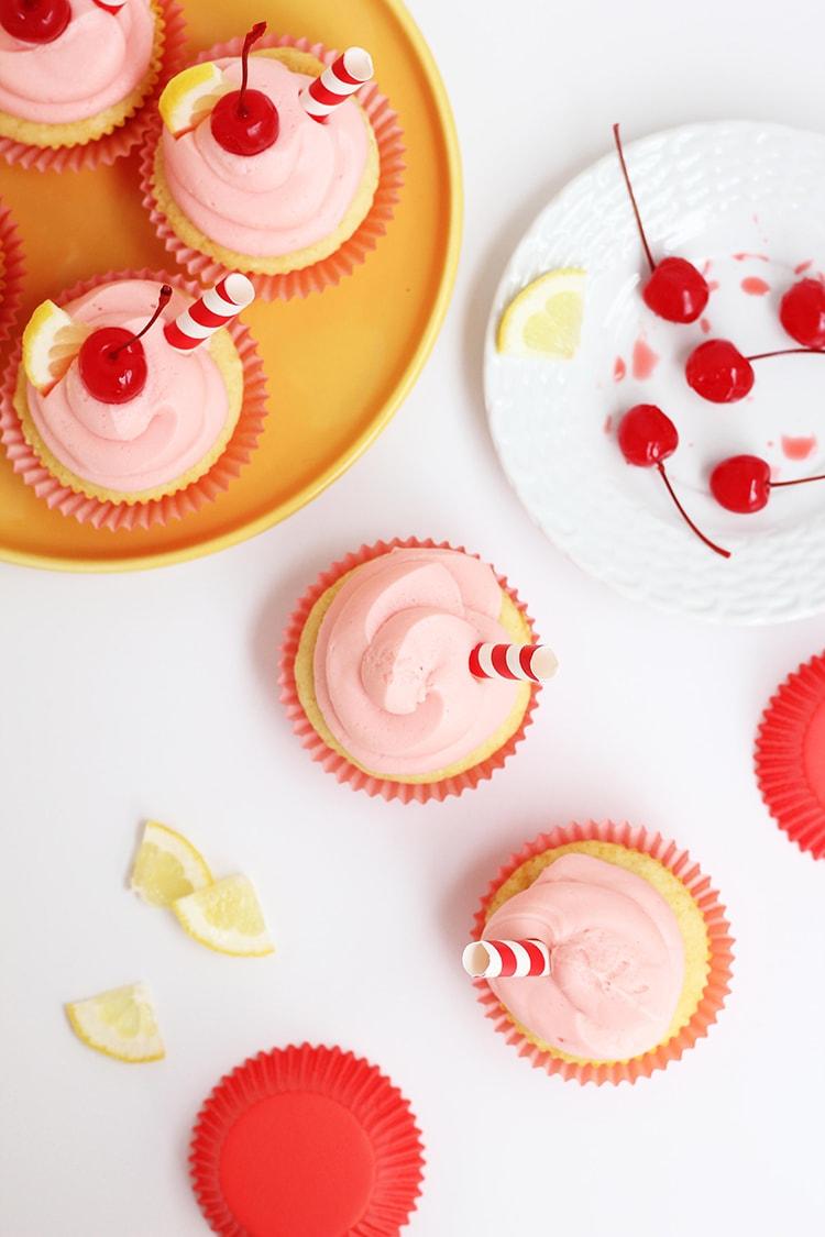 Cherry Lemonade Cupcakes Assembly Cherry Lemonade Cupcakes