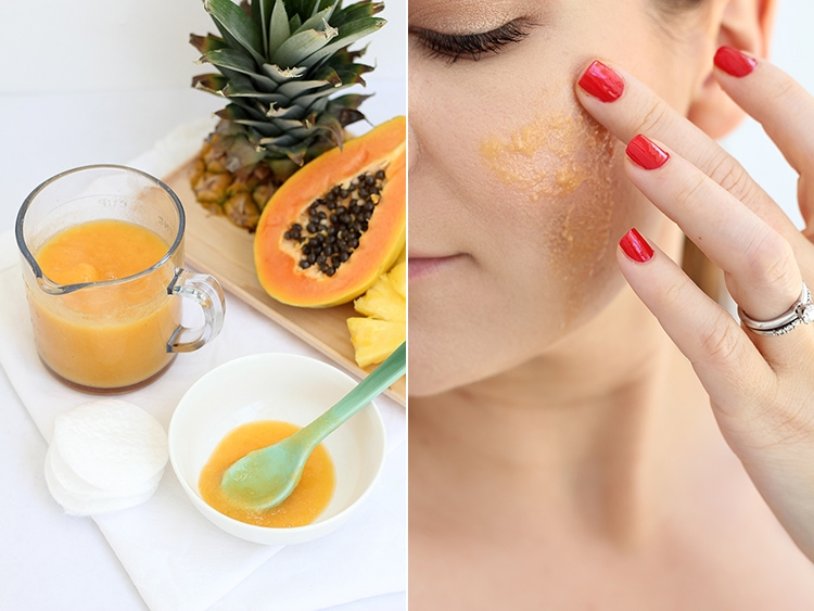 Pineapple Papaya Enzyme Mask at home Pineapple Papaya Enzyme Peel