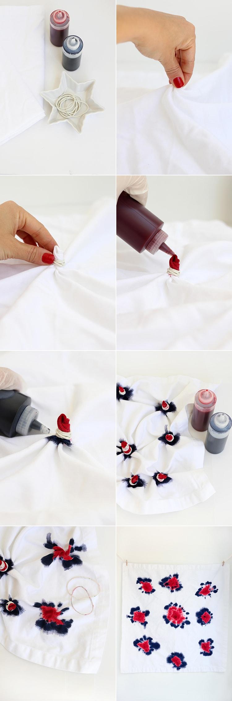 Tie Dye Firework Napkins