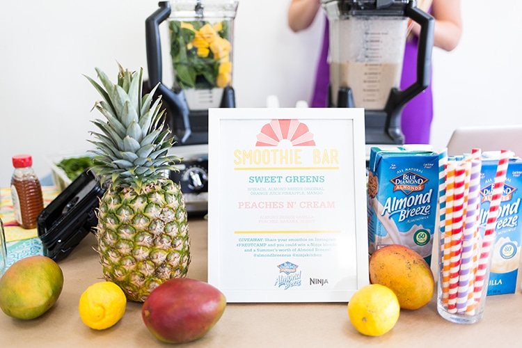 Freutcamp Summer 2014 Almond Breeze Smoothie Bar 2 Freutcamp Summer 2014 Recap