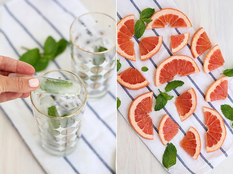 Mint and Pink Grapefruit Greyhound Cocktails | Freutcake