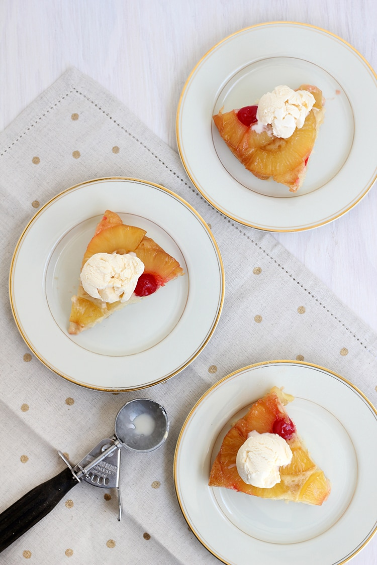 Pineapple Upside Down Cake A la Mode Pineapple Upside down Cake