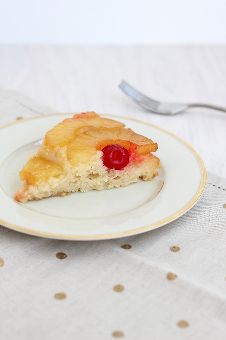 Pineapple Upside Down Cake Slice Pineapple Upside down Cake