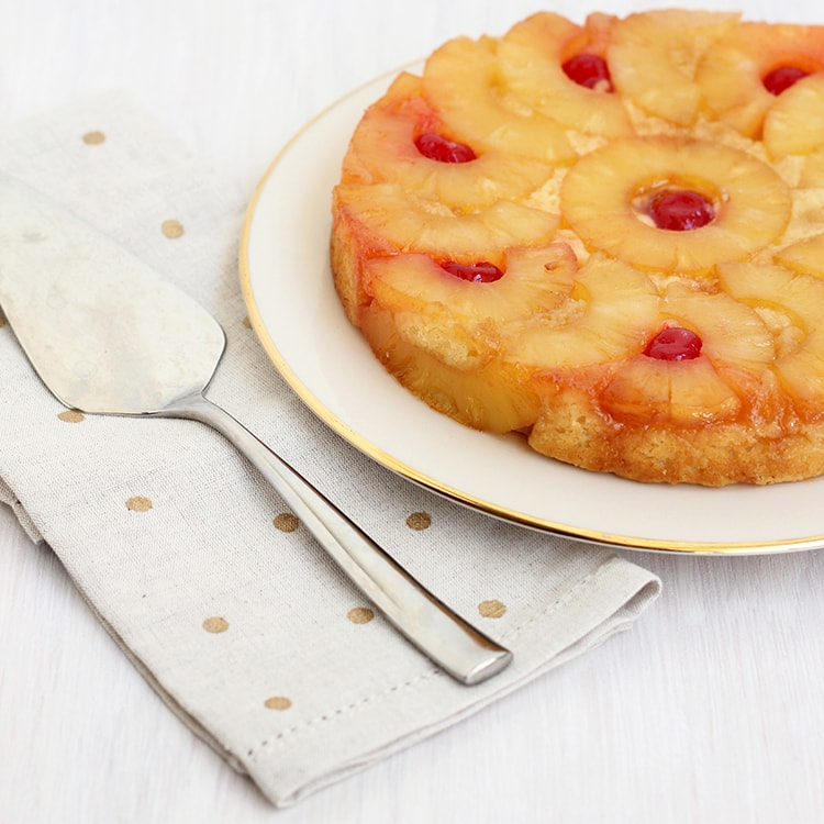 Small Pineapple Upside down Cake