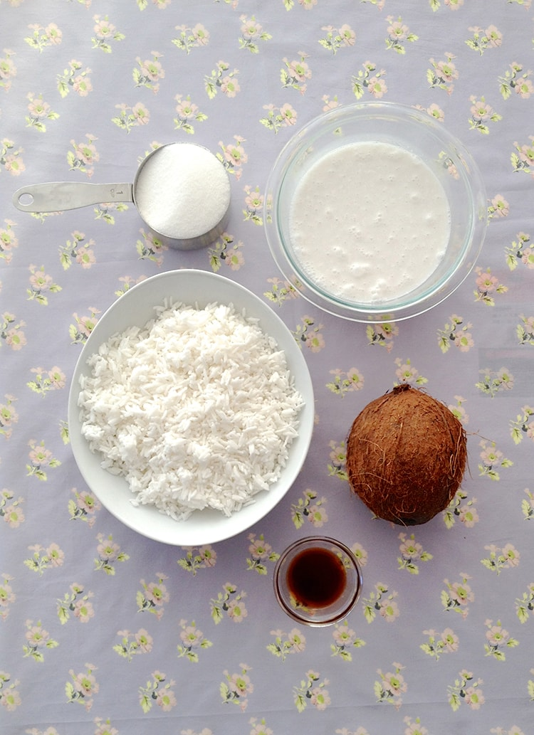 Coconut Rice Pudding Ingredients 5 Ingredient Coconut Rice Pudding