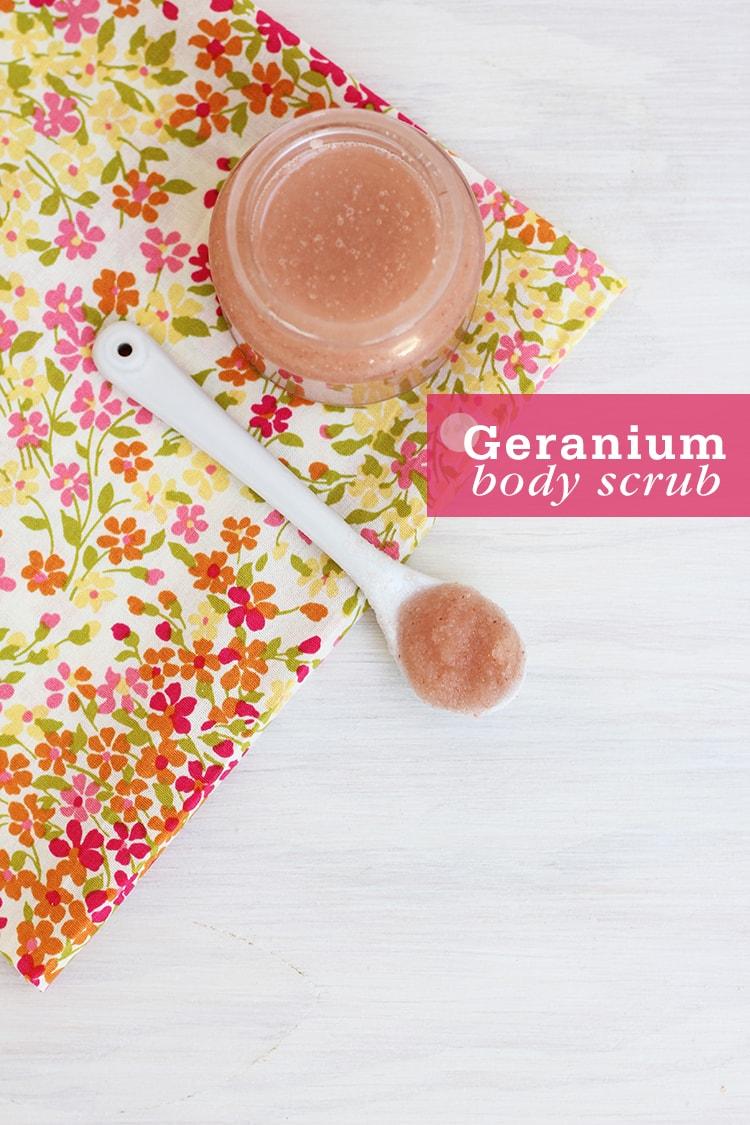 Geranium Body Scrub