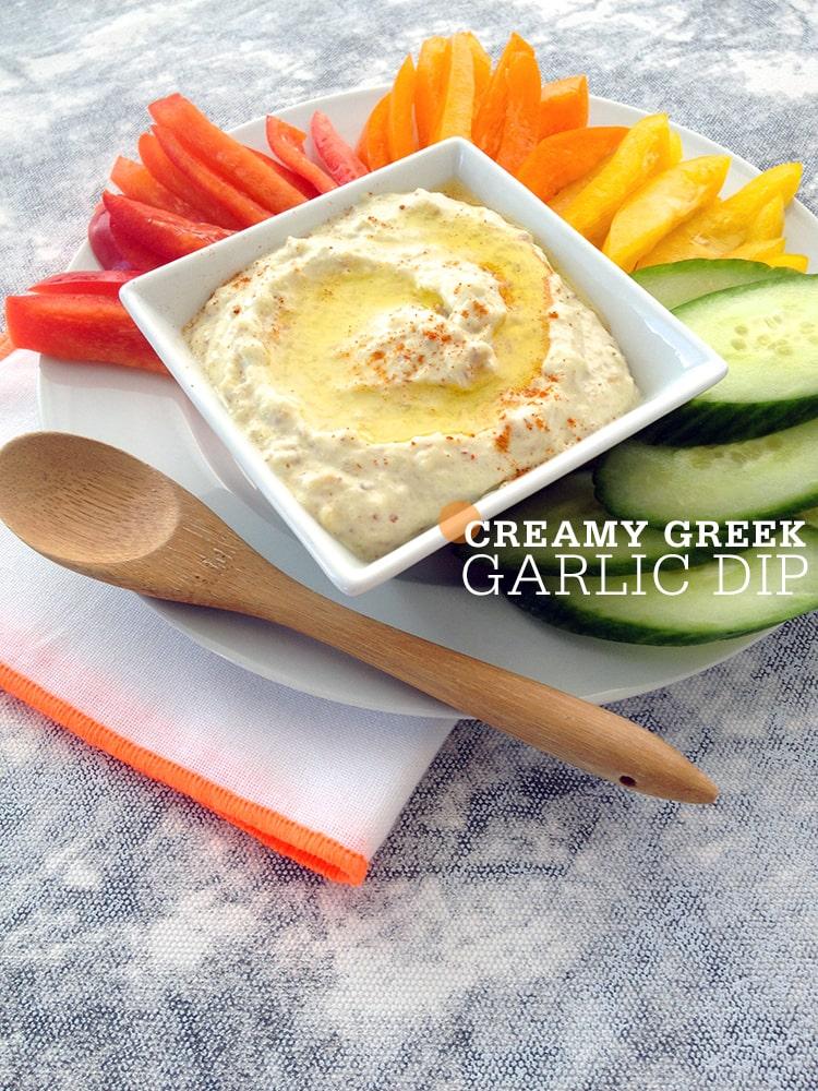 Creamy Greek Garlic Dip
