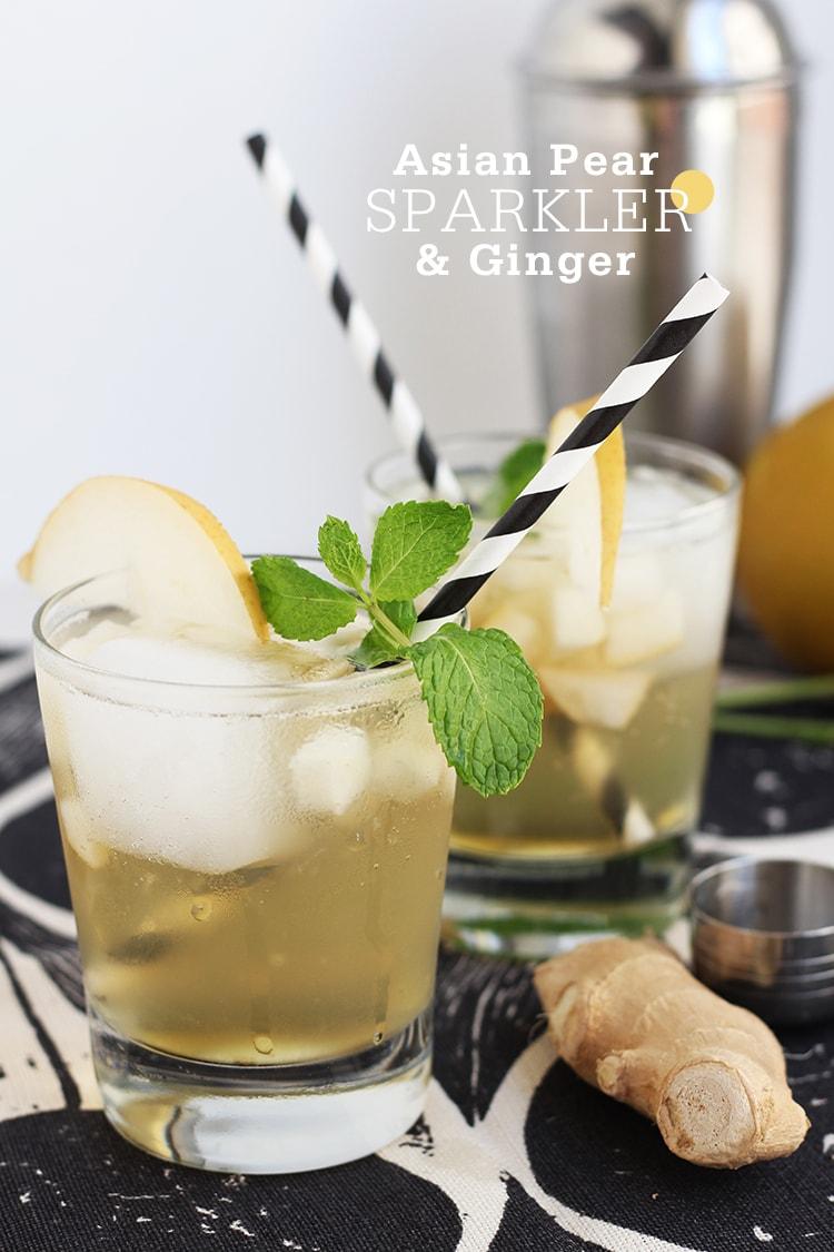 Asian Pear Ginger Sparkler Asian Pear & Ginger Sparkler