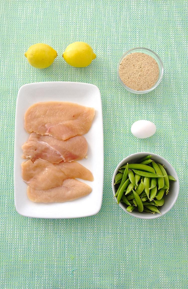 Chicken Milanese Snap Pea Slaw Ingredients Chicken Milanese with Snap Pea Slaw