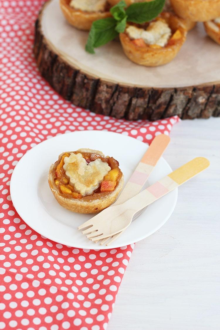 Nectarine and Peach Pie 2 Mini Peach & Nectarine Brown Sugar Pies