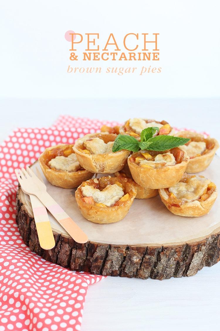 Mini Peach & Nectarine Brown Sugar Pies