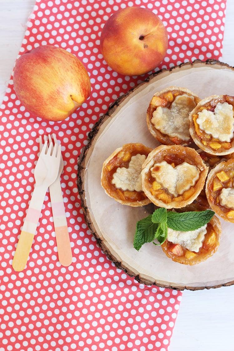 Peach and Nectarine Pie 1 Mini Peach & Nectarine Brown Sugar Pies