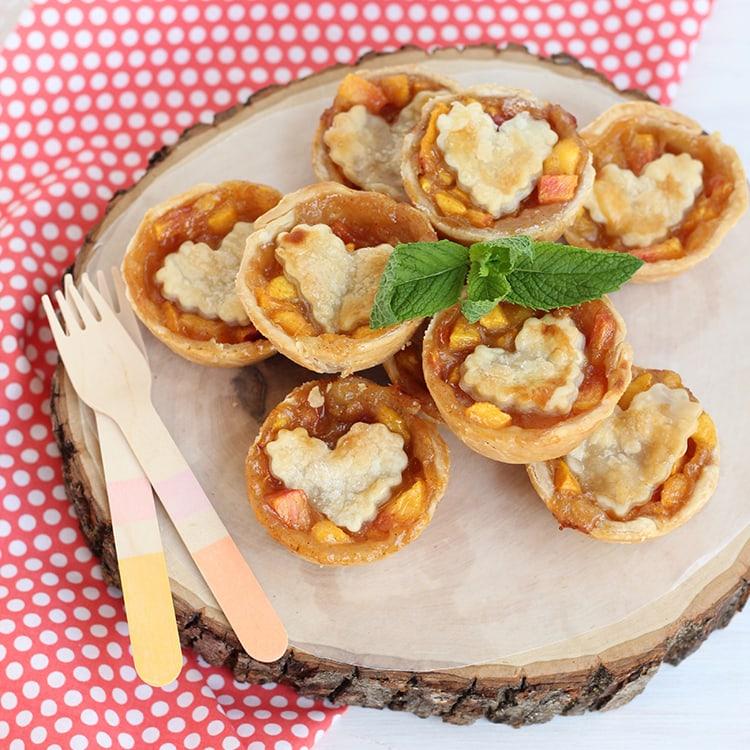 Peach and Nectarine Pies recipe card Mini Peach & Nectarine Brown Sugar Pies