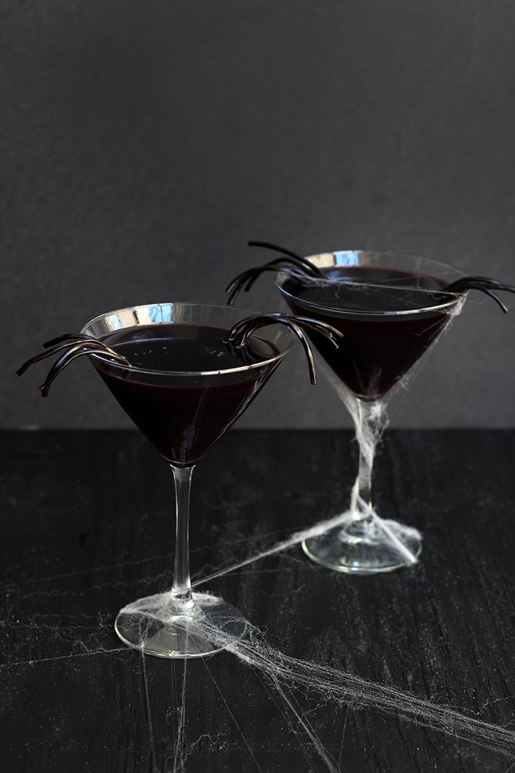 Black Licorice Widow Martini