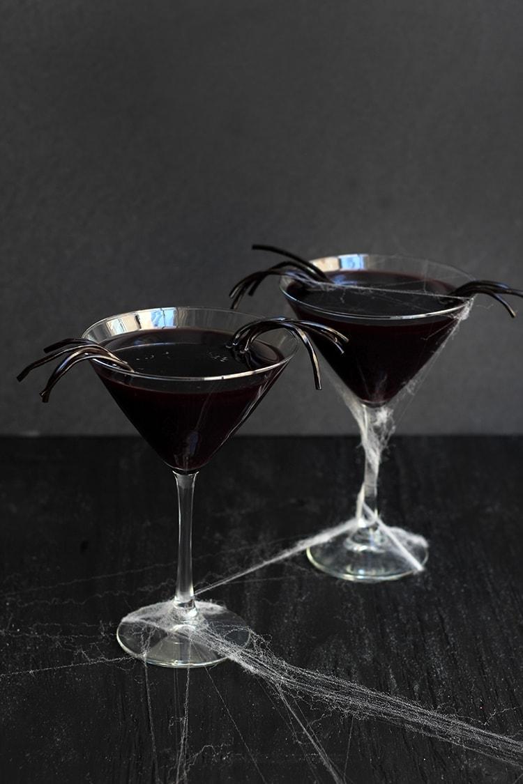 Black Licorice Widow Martini