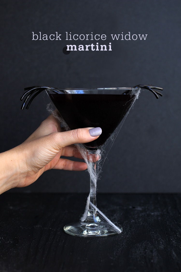 Black licorice widow martini for Halloween martini recipes vodka