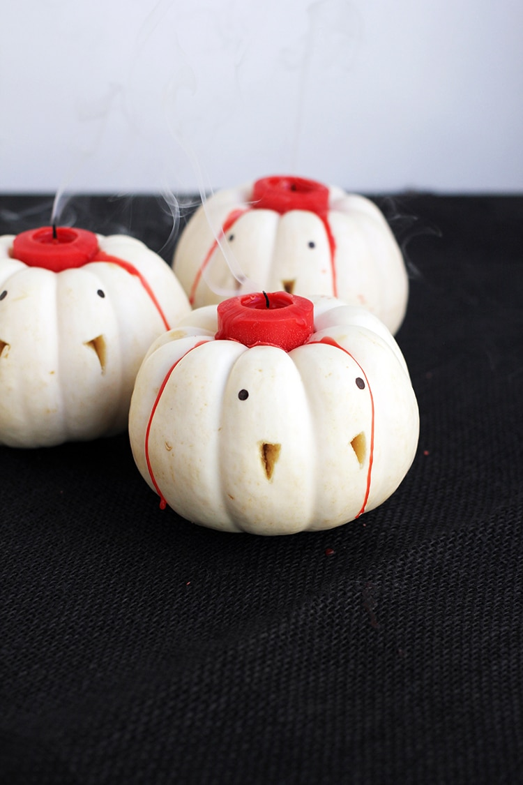 Mini Vampire Pumpkin Candles 4 Vampire Pumpkin Candles