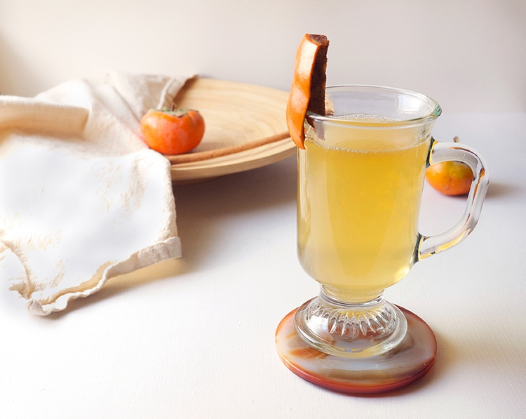 Spiced Persimmon Hot Toddy 2 Spiced Persimmon Hot Toddy