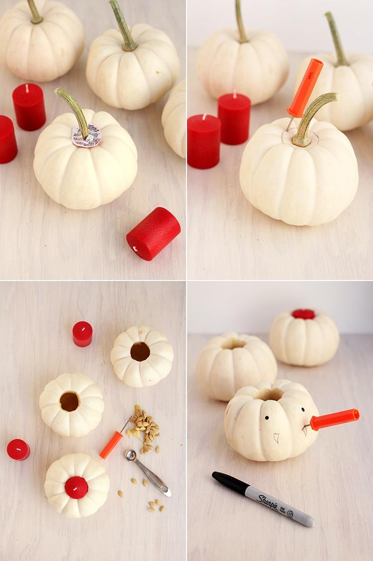 Vampire Pumpkin Candles