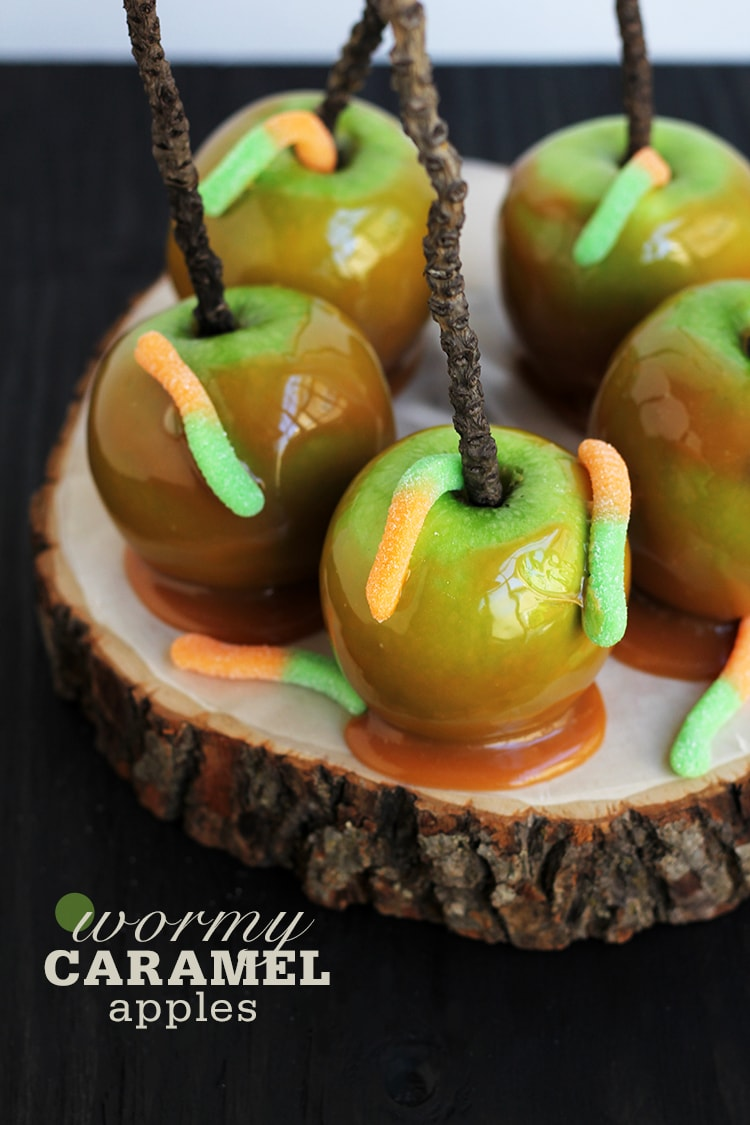 Wormy Caramel Apples Easy Wormy Caramel Apples
