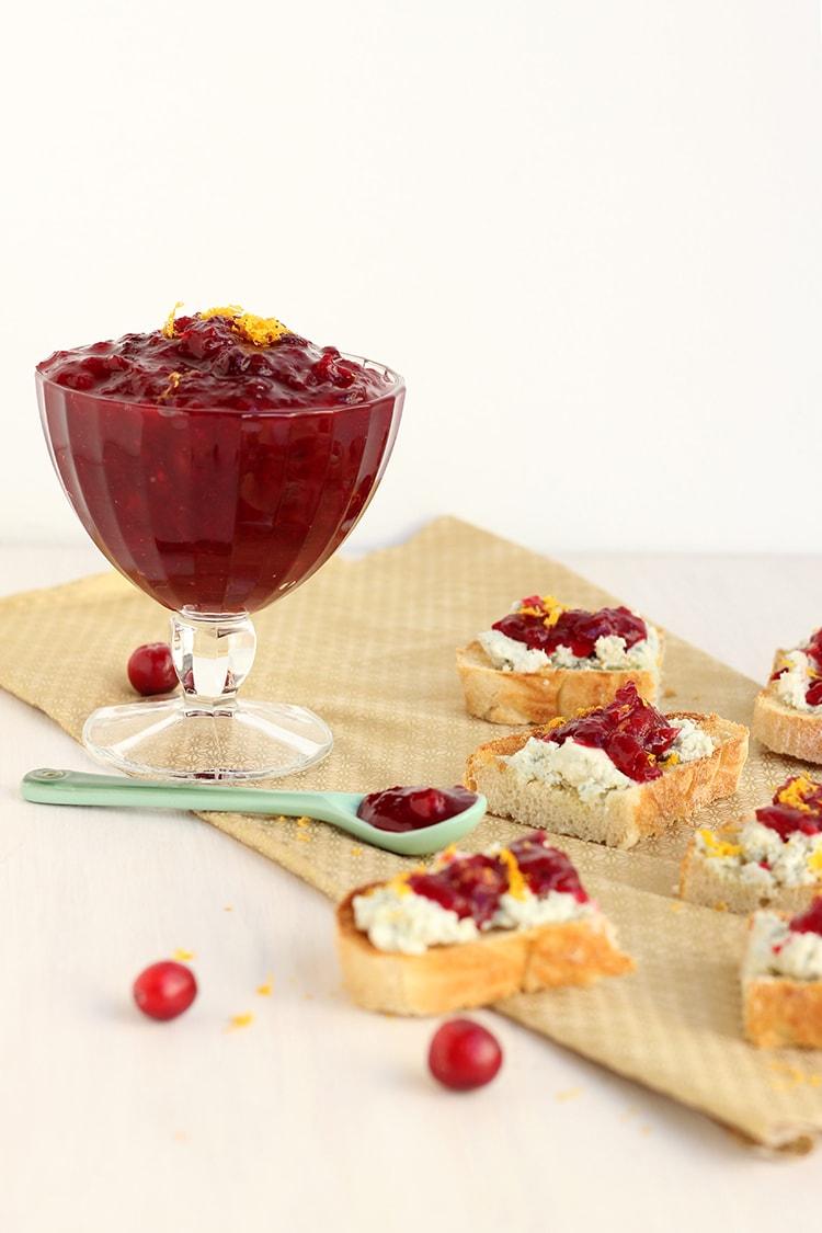 Blue-cheese Cranberry Crostini