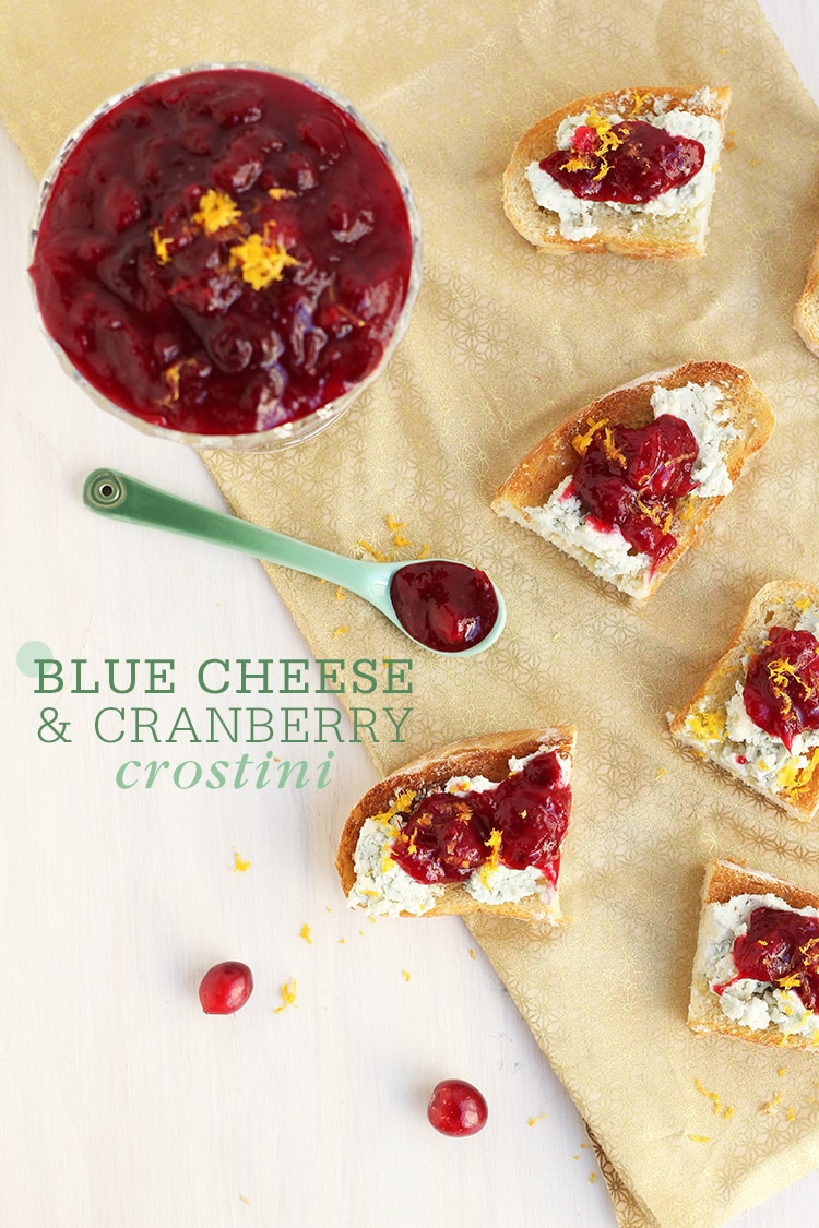 Bluecheese Cranberry Crostini Blue Cheese & Cranberry Crostini