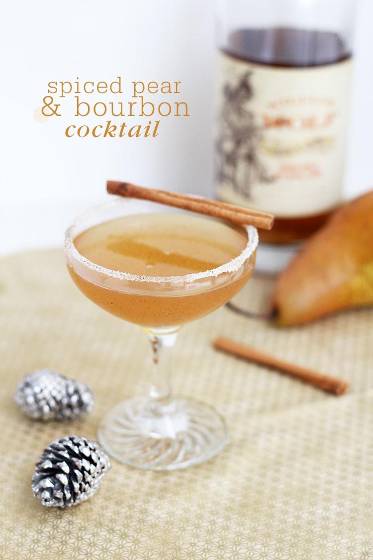 Spiced Pear Bourbon Cocktail