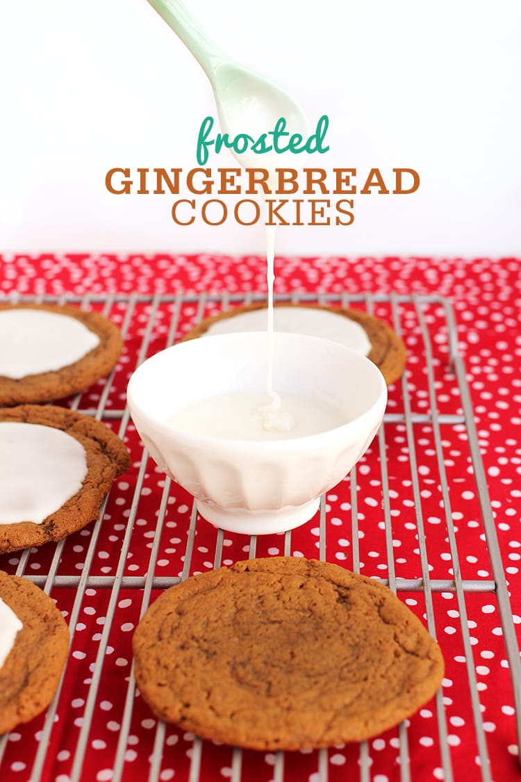 Santa-Size Frosted Gingerbread Cookies