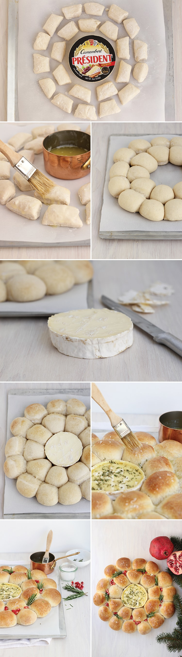 Baked Camembert Bread Wreath