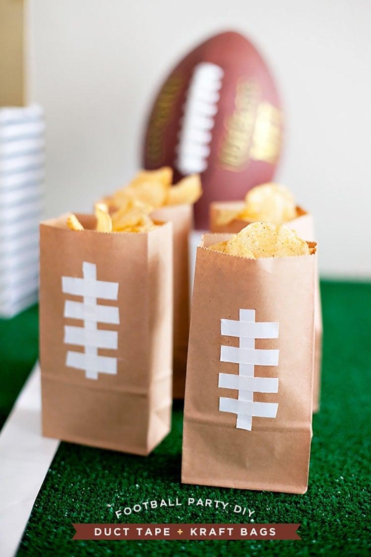 Super-Bowl-DIY-Football-Chip-bags