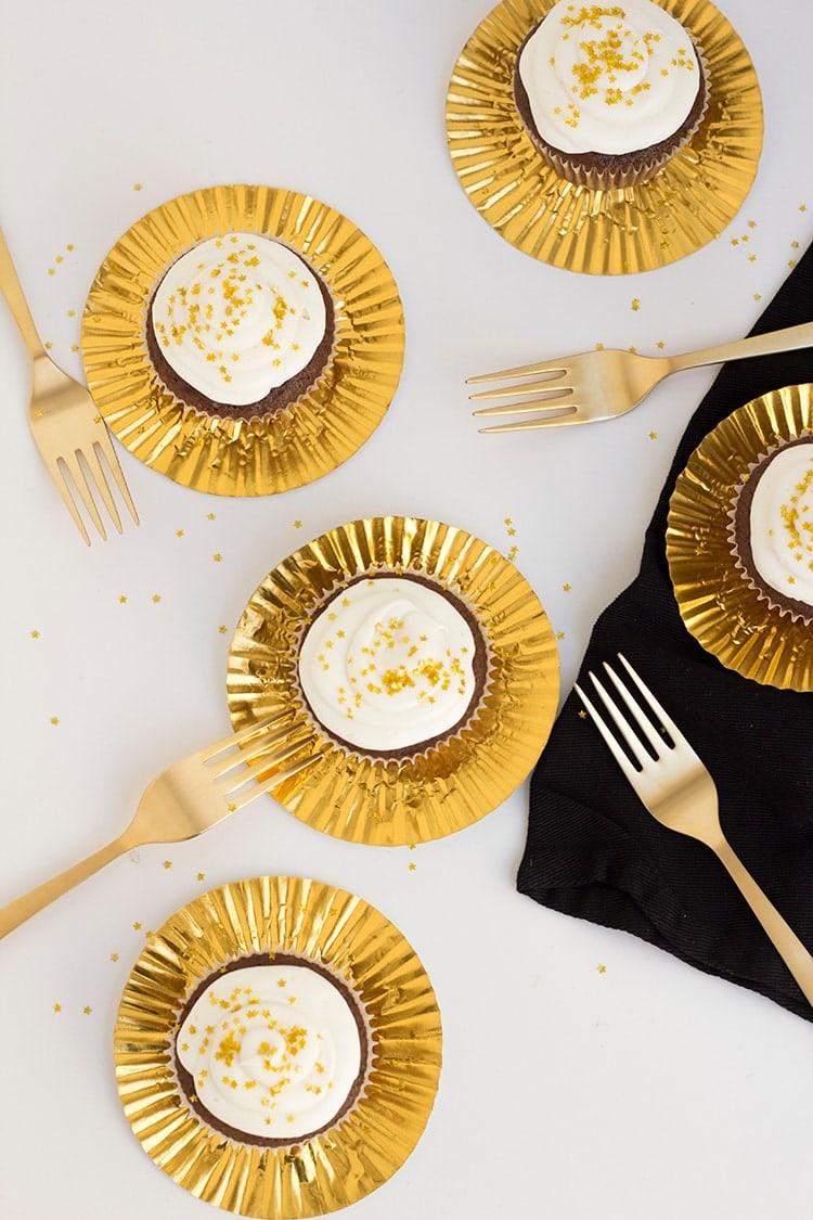 Oscar Chocolate Cupcakes
