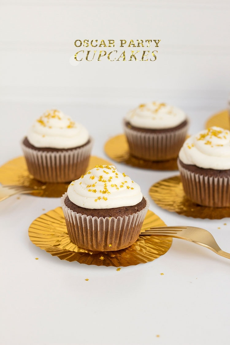 Oscar Party Chocolate Cupcakes