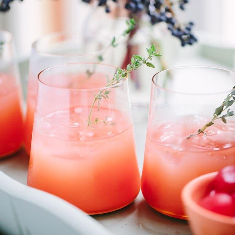 Thyme & Pink Grapefruit Greyhounds