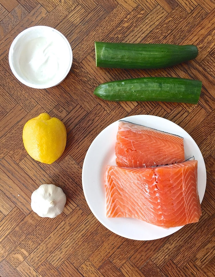 5 Ingredient Salmon with Yogurt Sauce