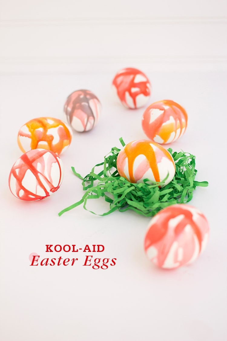 Kool Aid Dyed Easter Eggs