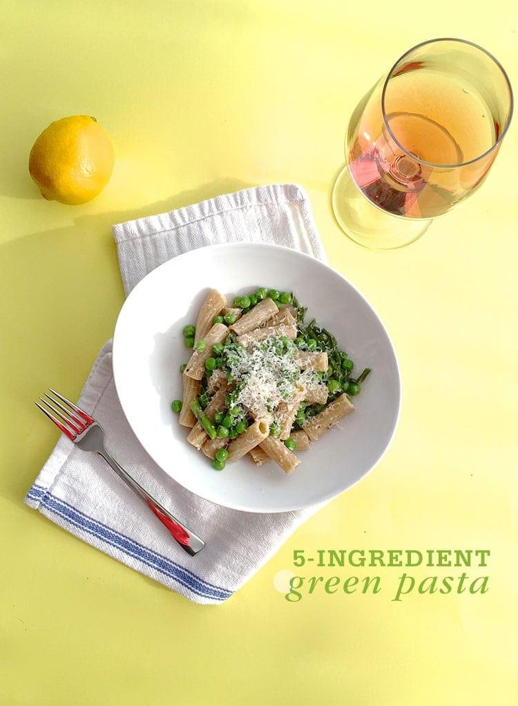 5-Ingredient Green Pasta