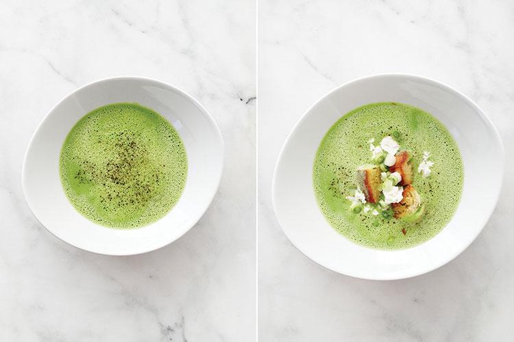 5-Ingredient Spring Pea Soup