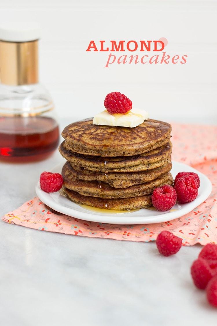 Almond Pancakes with Almond Breeze