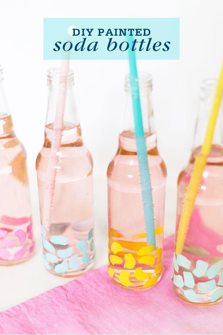 DIY Painted Soda Bottles