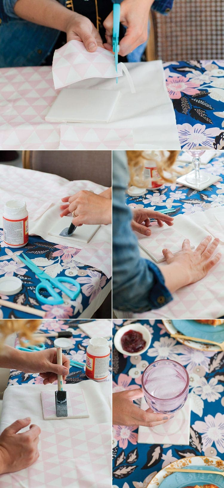 How To Make Diy Fabric Coasters
