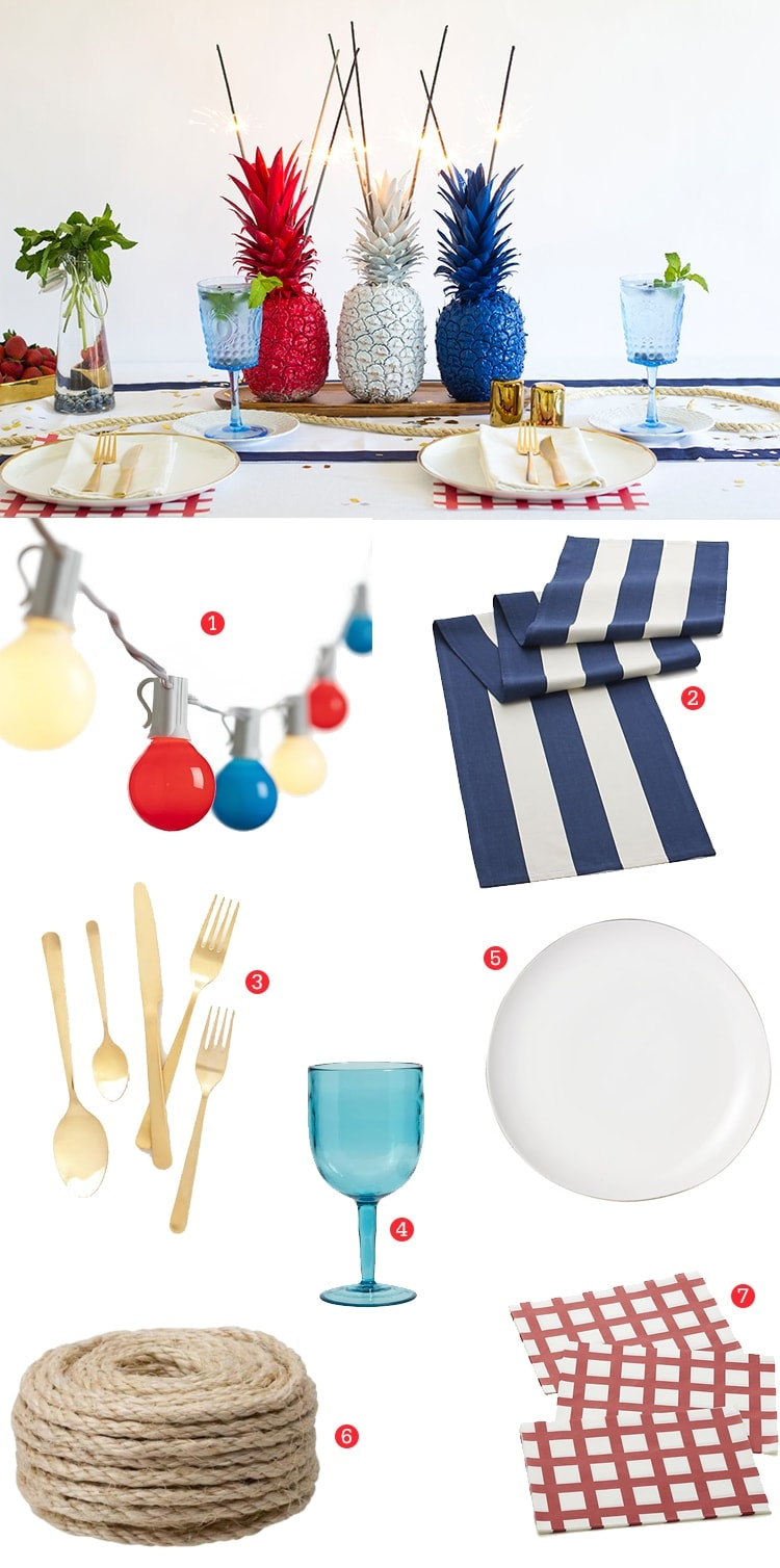 Preppy Patriotic Fourth of July Table