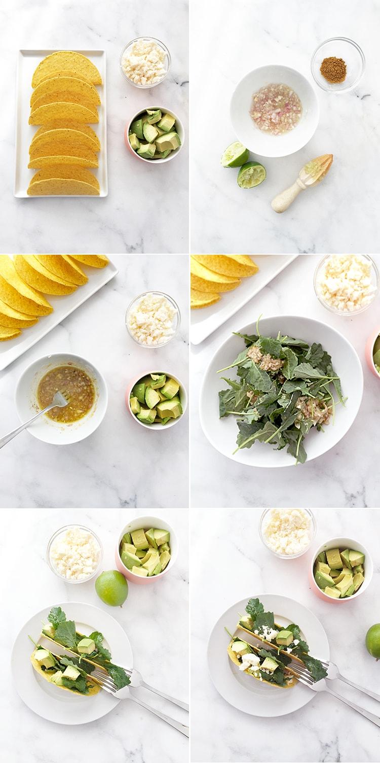 5 Ingredient Krispy Kale Tacos